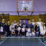 Результати змагань з настільного тенісу серед студентської молоді за програмою Спартакіади ЧНТУ 2018-2019 р.р.